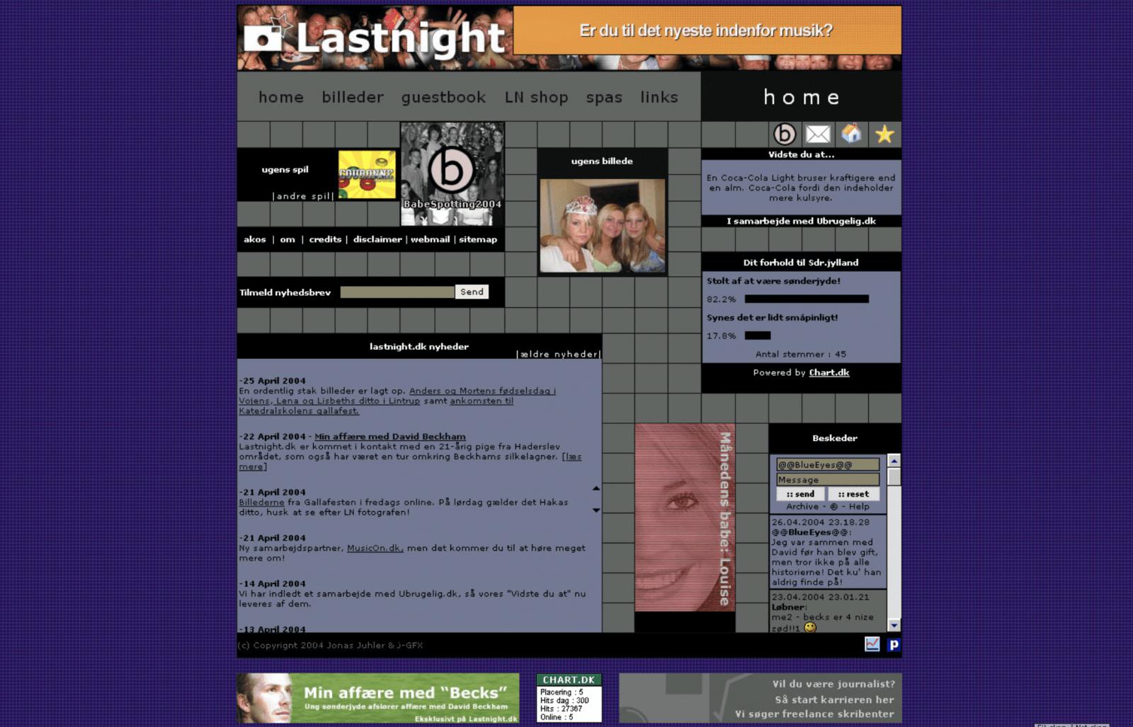 Version 2 af Lastnight fra 2003.