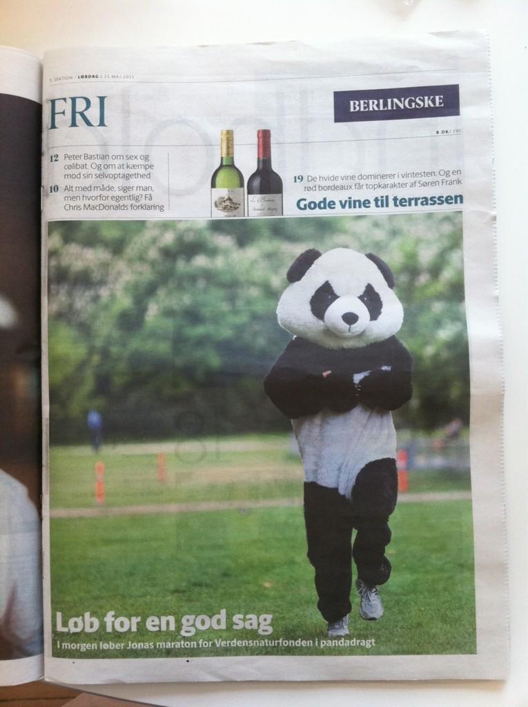 Berlingske: Pandaen løber for naturen – print artikel.